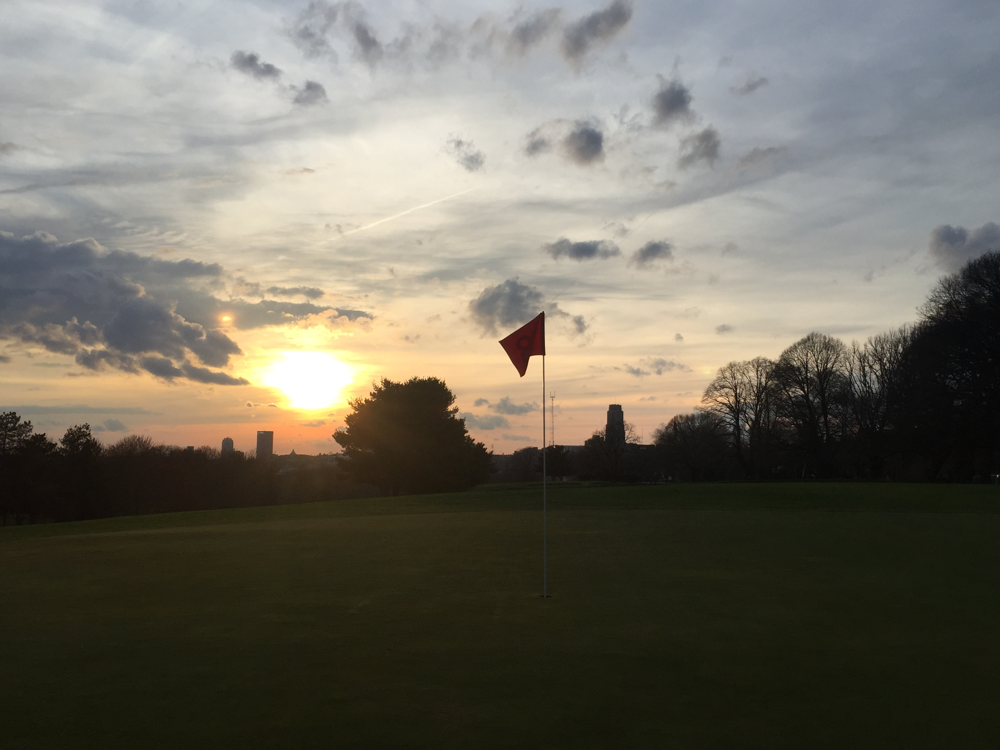 Hole 18 Sunset Summer